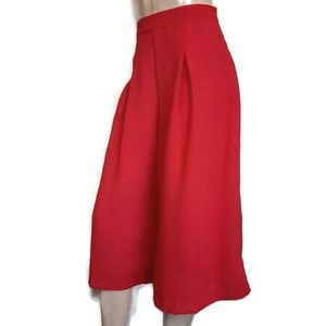 THE VINTAGE SHOP Pleated Culottes Flare Wide Pants
